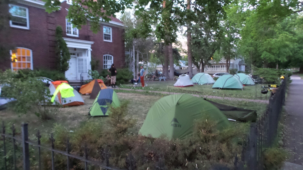 Half of the Tents at Bruce's House that Night