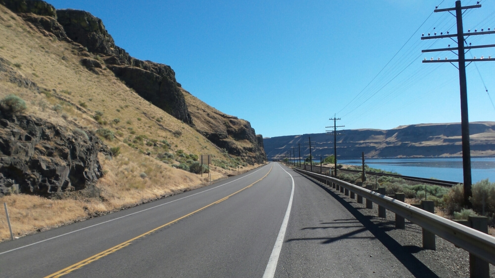Entering the Columbia Gorge